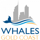 Whales Gold Coast Logo - Gold-Blue Text -200